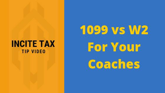 1099 vs W2: Determining Coach Classification