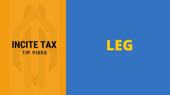 LEG: A Profit First Principle