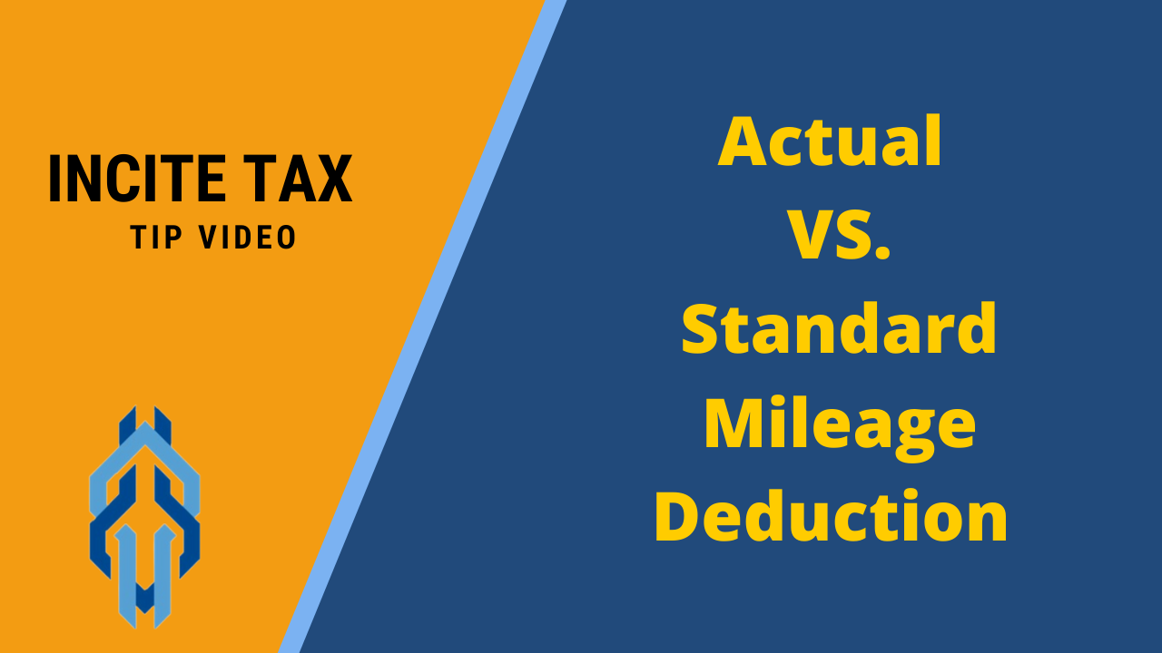 Actual Or Standard Mileage Deduction For Your Work Vehicle?